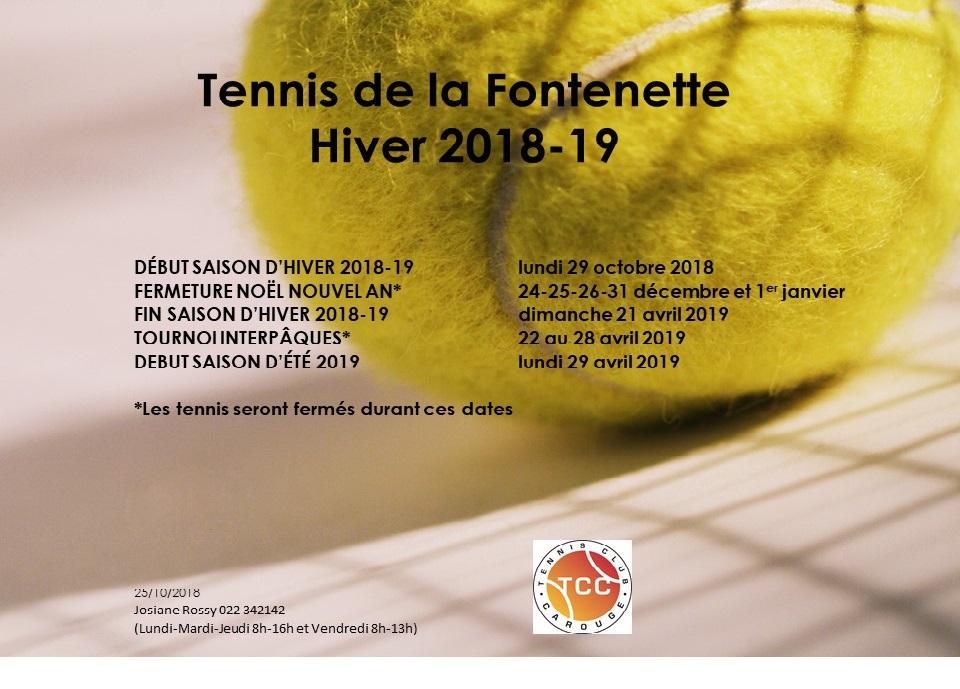 Fontenette dates