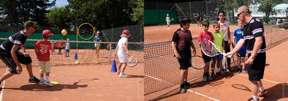 0a79c44c4fb2a Cette semaine, en plus de la formule full-time, les juniors ont pu  s'initier ou se perfectionner avec des formules tennis matin et mini-tennis.